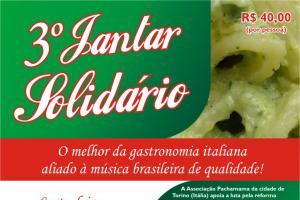 Pachamama realizará 3º jantar solidário em Alagoas